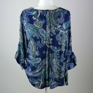 Nine West jeans tunic top size large